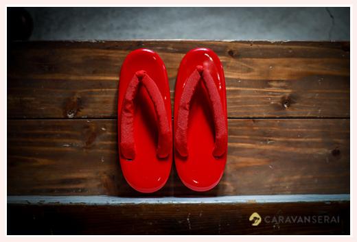 七五三 赤い草履 7歳の女の子