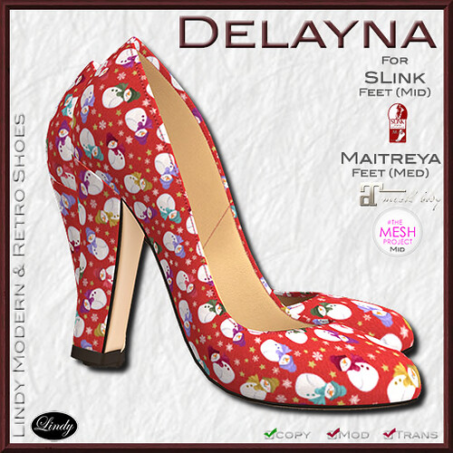 Lindy Modern & Retro SHoes-Delayna Snowy hunt prize