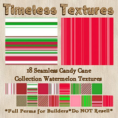 TT 18 Seamless Candy Cane Collection Watermelon Timeless Textures