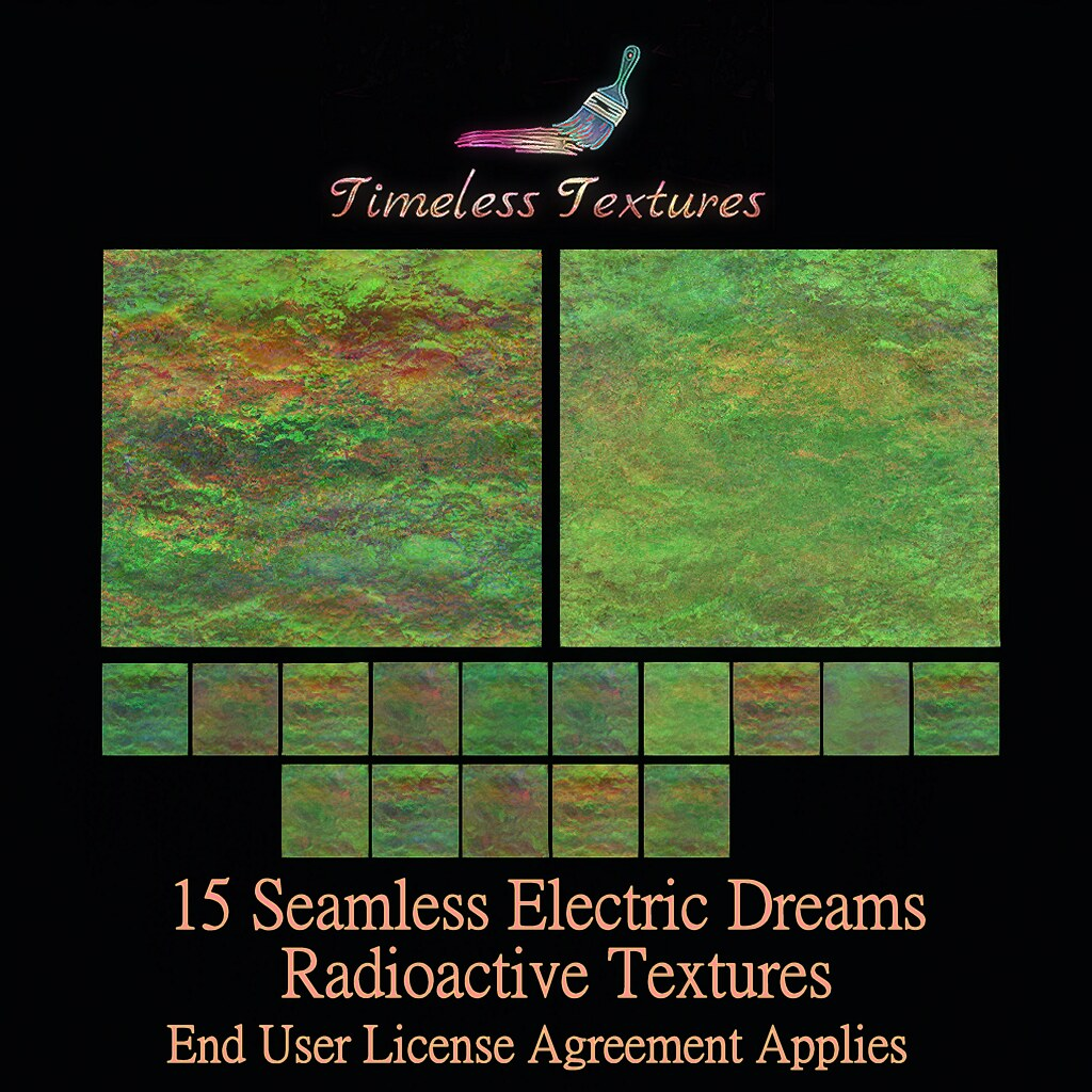 TT 15 Seamless Electric Dreams Radioactive Timeless Textures
