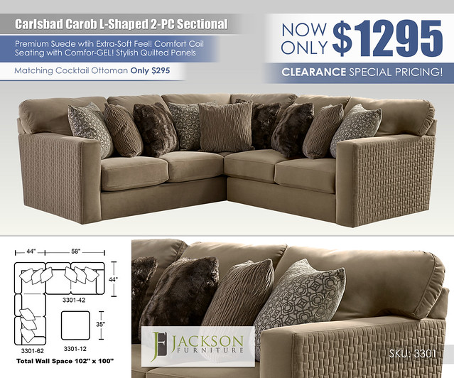 Carlsbad Carob L Shaped 2PC Sectional_3301