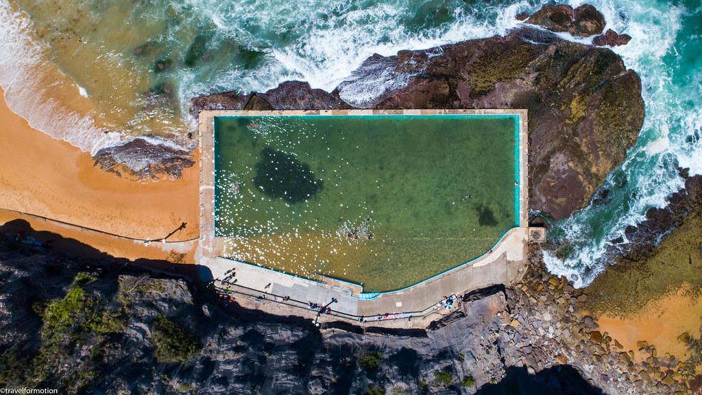 drone87 - Australia 2018 - Bilgola Rockpool - only one of the amazing Sydney ocean pools_