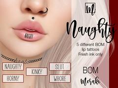 Meraki - Naughty BOM Lip Tattoos