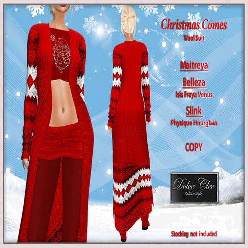 Dolce Cleo 'Xmas comes Wool Suit' hunt prize