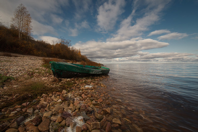 Old boat on Lake Ilmen