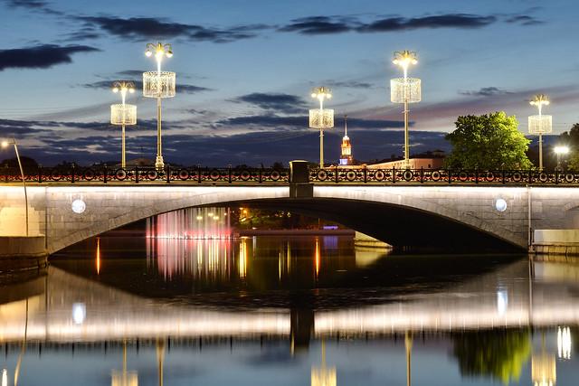 Evening. River. Minsk