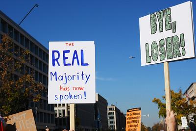 Celebrating Defeat of President Trump 09 - Real Majority Has Spoken