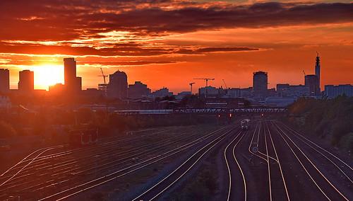 birmingham birminghampostandmail englanduk sunset silhouette
