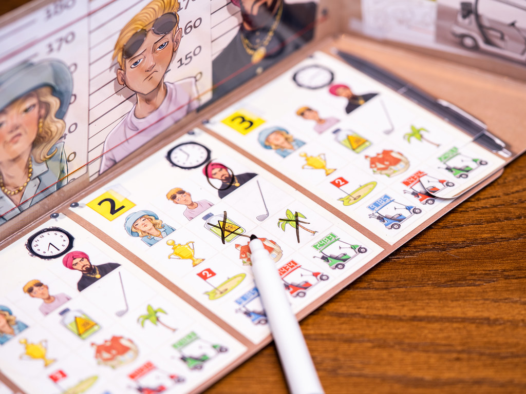 The Key: Asesinato en el Club de Golf boardgame juego de mesa