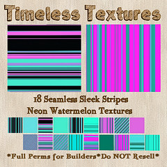 TT 18 Seamless Sleek Stripes Neon Watermelon Timeless Textures