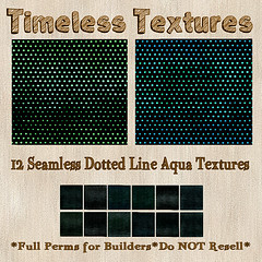 TT 12 Seamless Dotted Line Aqua Timeless Textures