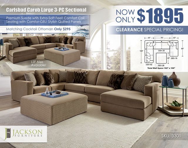 Carlsbad Carob Large 3PC Sectional_3301