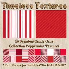 TT 20 Seamless Candy Cane Collection Peppermint Timeless Textures