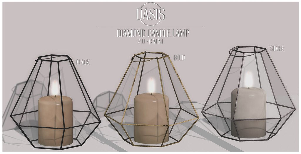 Oasis: Diamond Candle Lamp