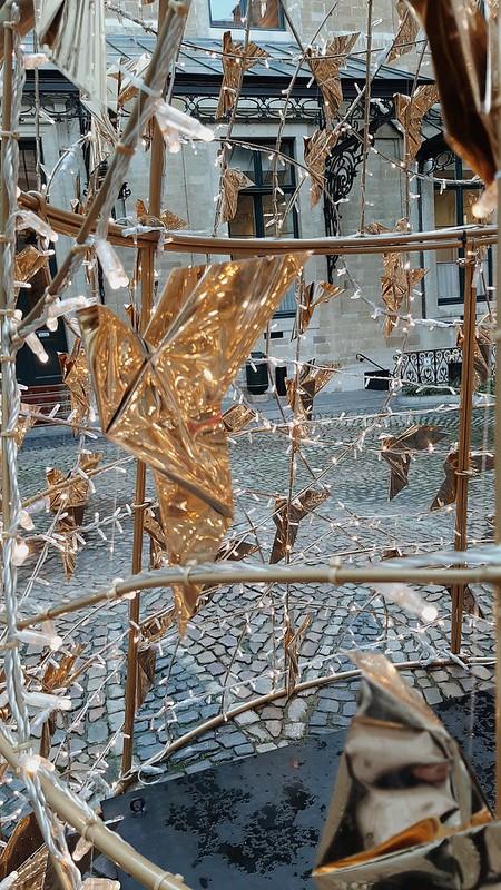 Detalle origami árbol de Navidad ayuntamiento de Bruselas II