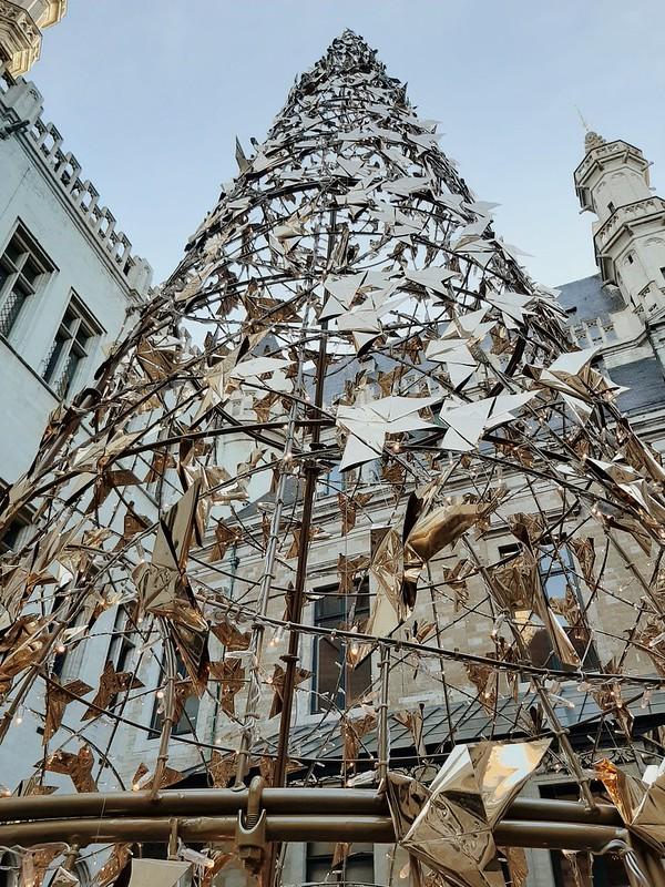 Árbol de Navidad ayuntamiento de Bruselas II