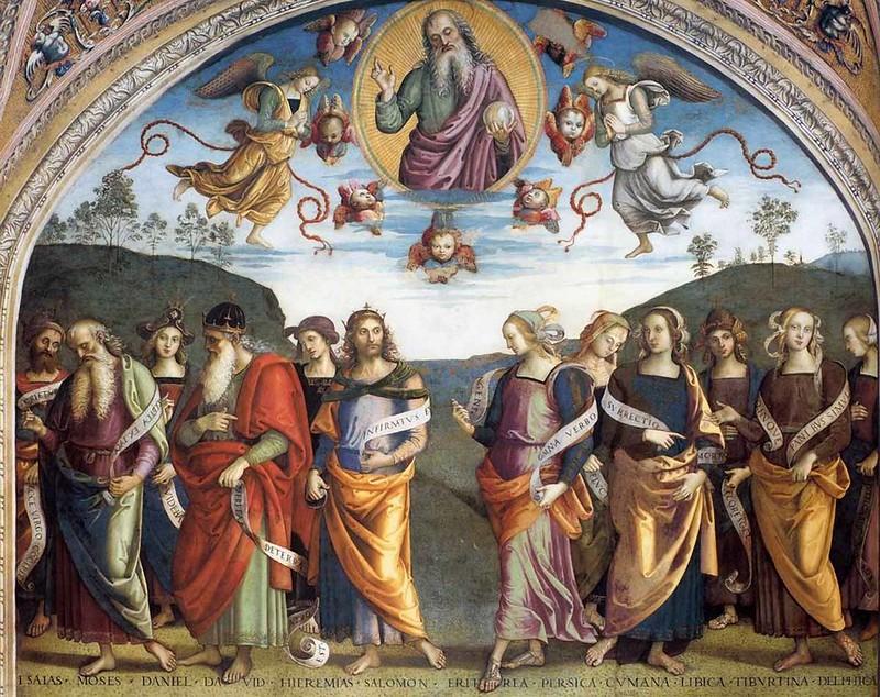 Пьетро Перуджино. Аллегория Всемогущества с пророками и сивиллами. 1500