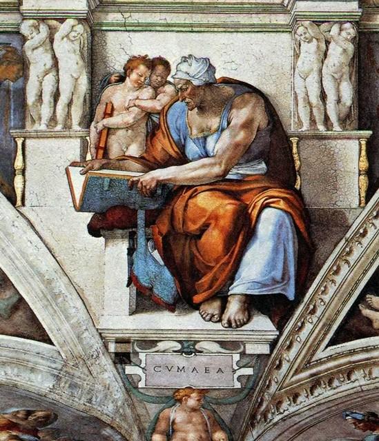 Микеланджело. Кумская сивилла. Сикстинская капелла. Ватикан