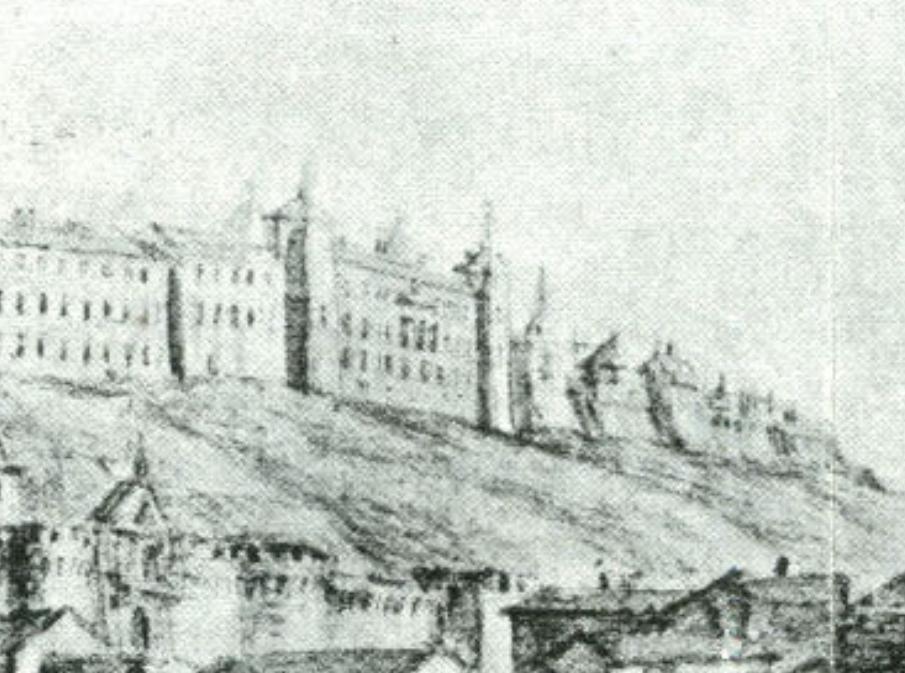 Palacio de Vargas en la vista de Toledo dibujada por Pier María Baldi, Biblioteca Medicea Laurenciana (1668-1669).