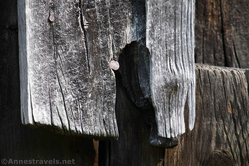 An old wooden board on the Genesee Valley Canal Warehouse, Belfast, New York