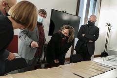 dt., 15/12/2020 - 16:49 - Trobada amb Josep Maria Contel, historiador de Gràcia, i donació de plànols del refugi de la Generalitat