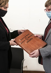 dt., 15/12/2020 - 17:06 - Trobada amb Josep Maria Contel, historiador de Gràcia, i donació de plànols del refugi de la Generalitat