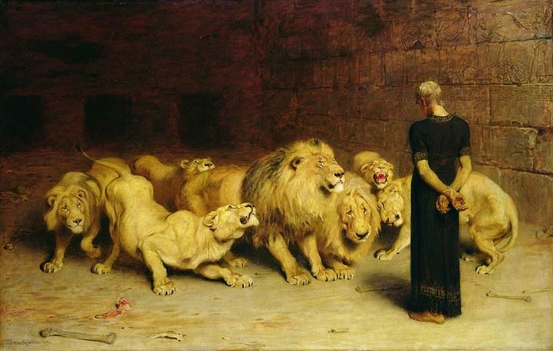 Брайтон Ривьер. Даниил во львином рву. 1872