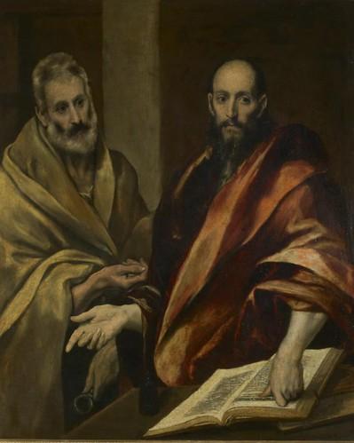 Эль Греко (Доменикос Теотокопулос). Апостолы Петр и Павел. Испания, между 1587 и 1592 гг. Эрмитаж