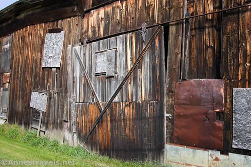 Sliding door on the Genesee Valley Canal Warehouse, Belfast, New York
