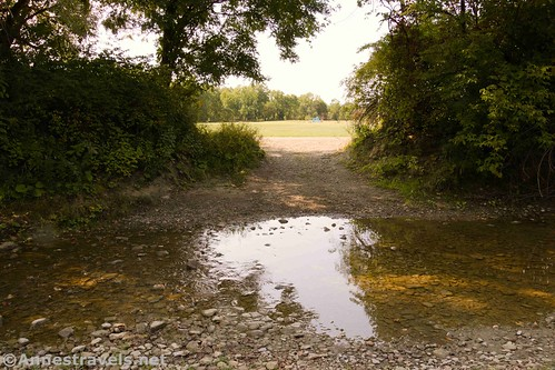 The stream crossing on the Genesee Valley Greenway during a drought, Houghton, New York