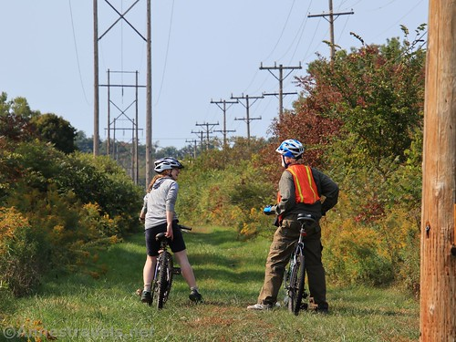 Biking the Genesee Valley Greenway just south of Fillmore, New York