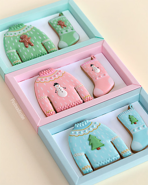 ugly sweater decorated cookies