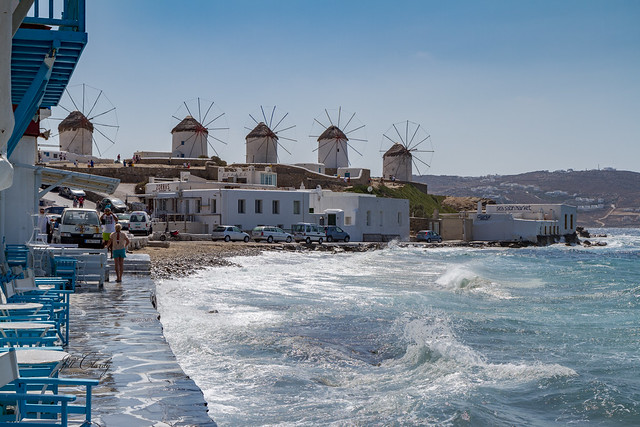 Armchair Traveling - The Windmills on Mykonos