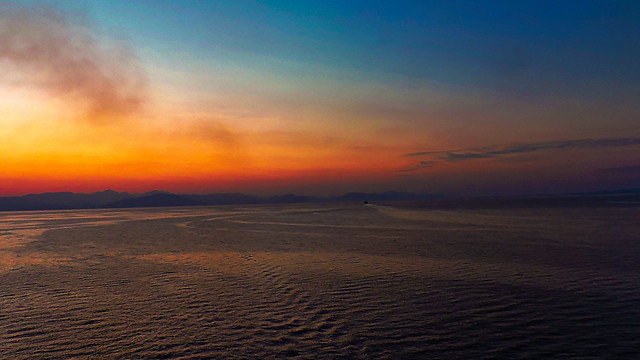E51 Sonnenuntergang in Santorin