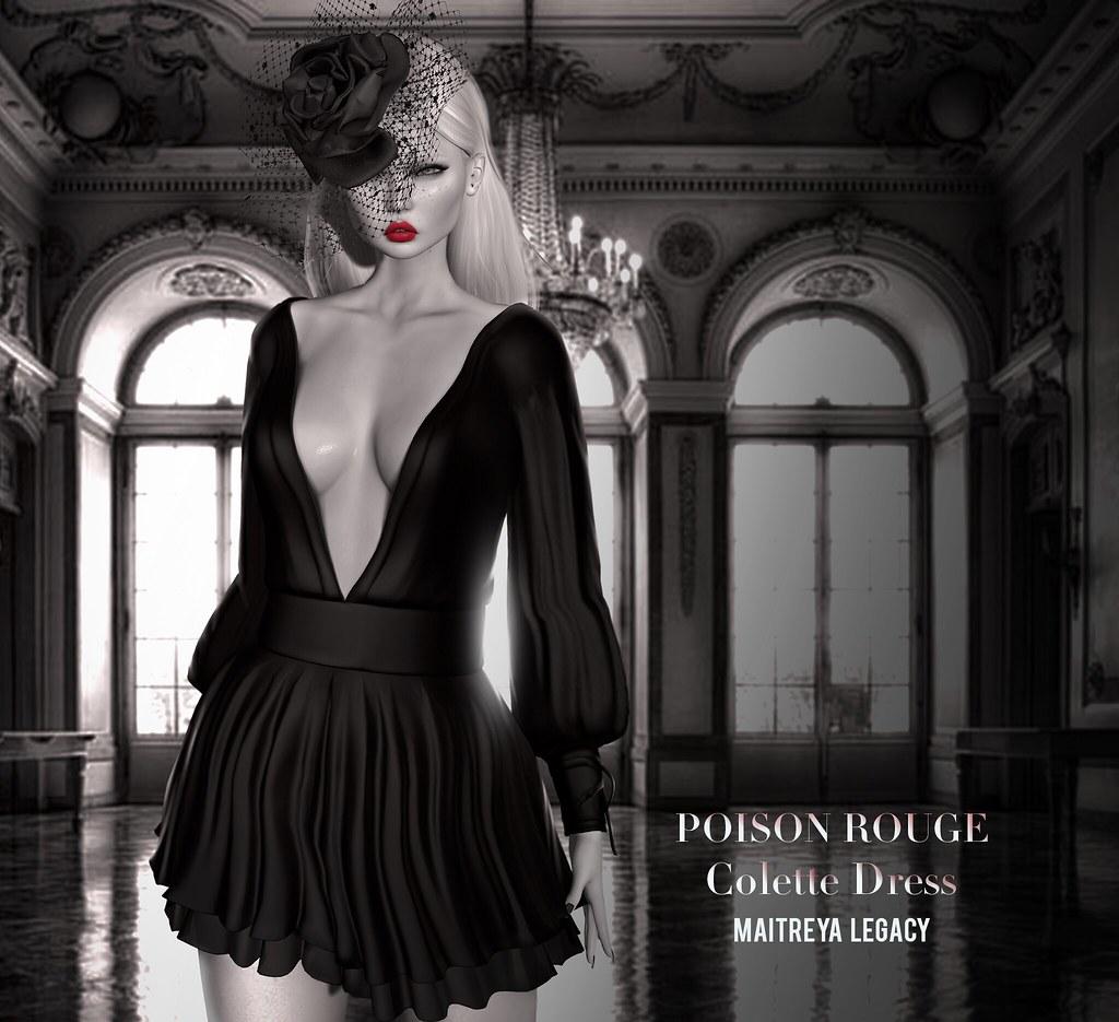 POISON ROUGE Colette Dress