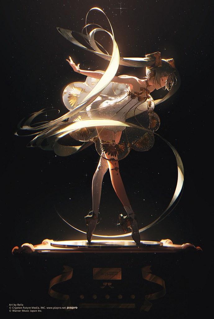 黏土人「初音未來交響樂2020〜5th Anniversary〜」在古典留聲機上優美舞動!
