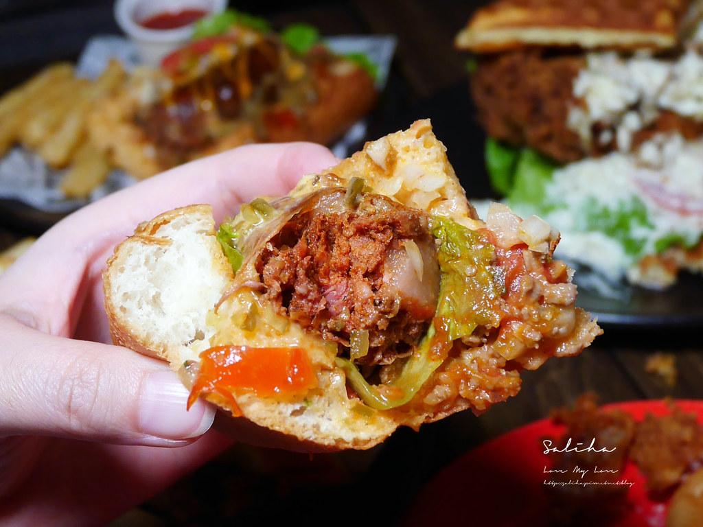 台北東區不限時餐廳推薦ABV美式餐酒館好吃忠孝敦化站附近美食大份量漢堡  (3)