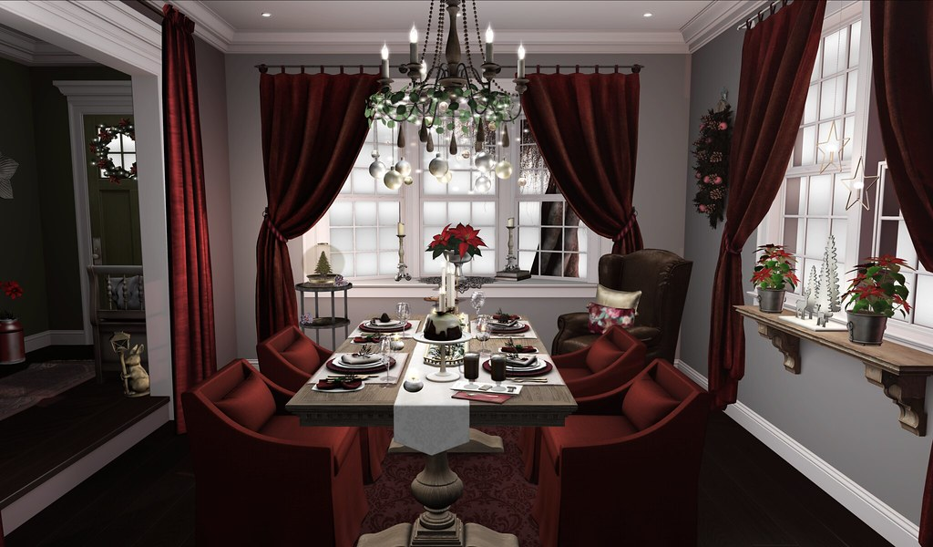 Christmas dinner in Second Life