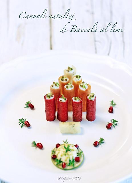cannoli natalizi di baccalà