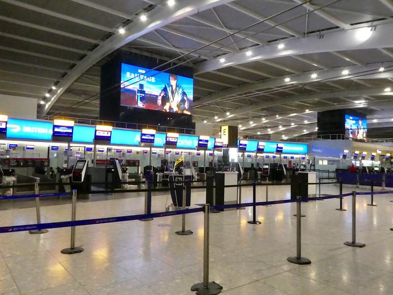 Check in desks at Heathrow Terminal 5