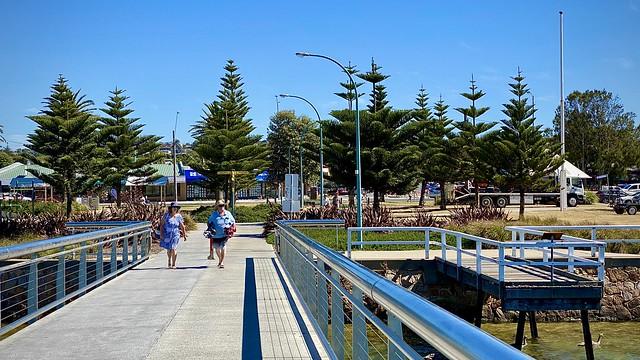 Lakes Entrance footbridge and foreshore