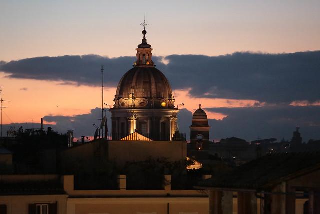 Roman sunset - Piazza di Spagna