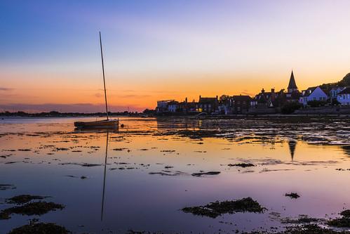 bosham sunset sussex england uk reflection boat hightide canon 80d sigma 1750mm leefilters