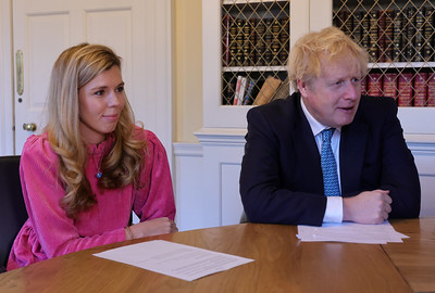 Boris Johnson and Carrie Loneliness Zoom Call