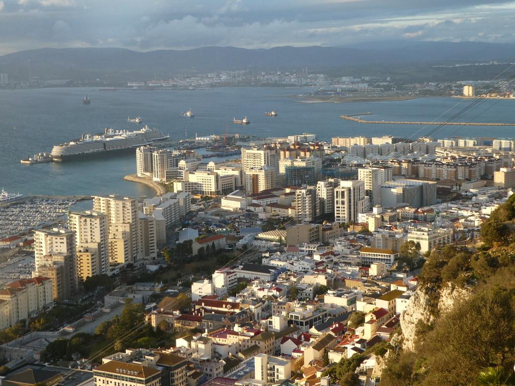 Stunning views from Apes Den, Upper Rock Nature Reserve, Gibraltar