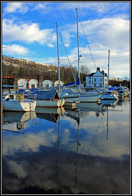 Reflections at Bowling Harbour.