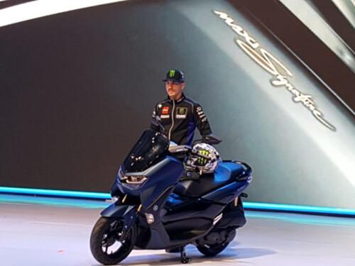 Maverick Vinales with Yamaha All New NMAX 155