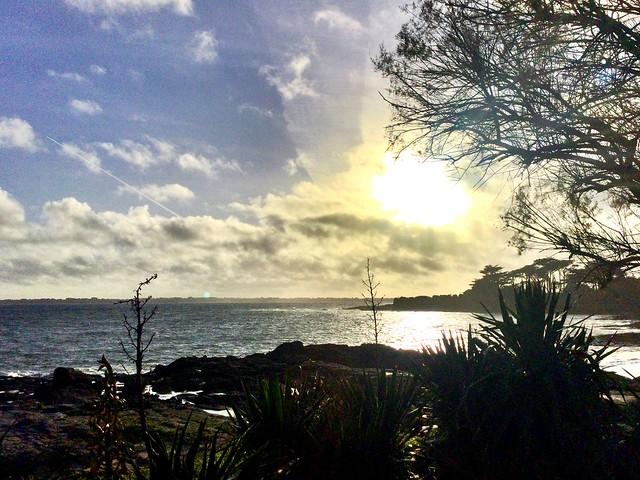 Soleil sur l'île de Groix . Morbihan . Bretagne