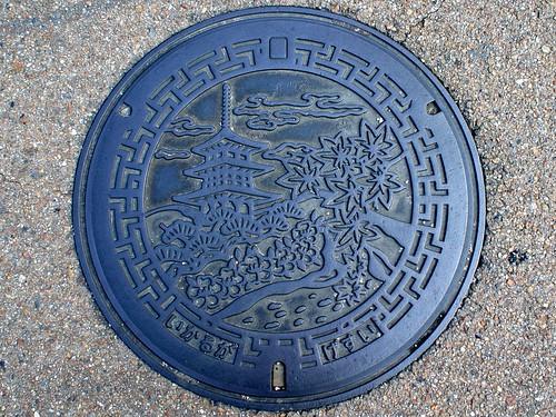 Ikaruga Nara, manhole cover 3 (奈良県斑鳩町のマンホール3)