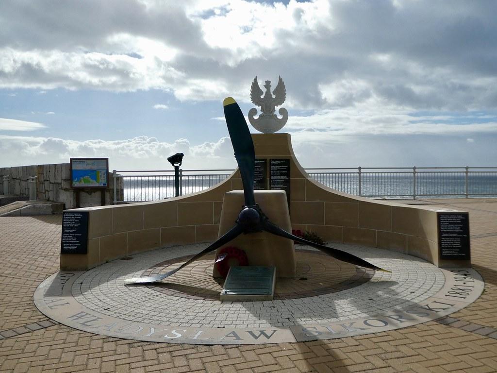 The Sikorski Memorial at Europa Point, Gibraltar